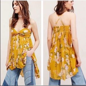 Free People Mirage Floral Tunic Convertible Top